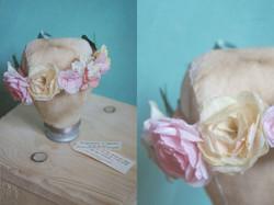 Couronne de fleurs papier Fragonard