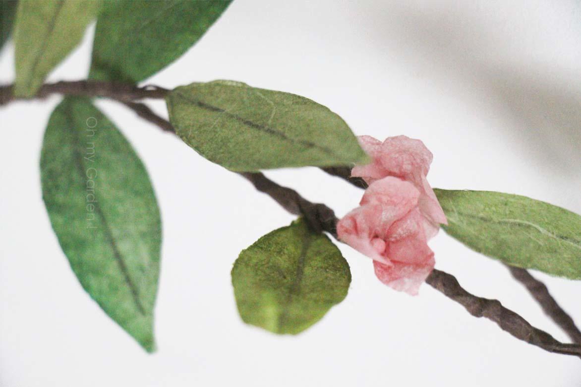 Couronne de cerisier en papier