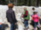 BVAS 6th Grade Outdoor School builds sno