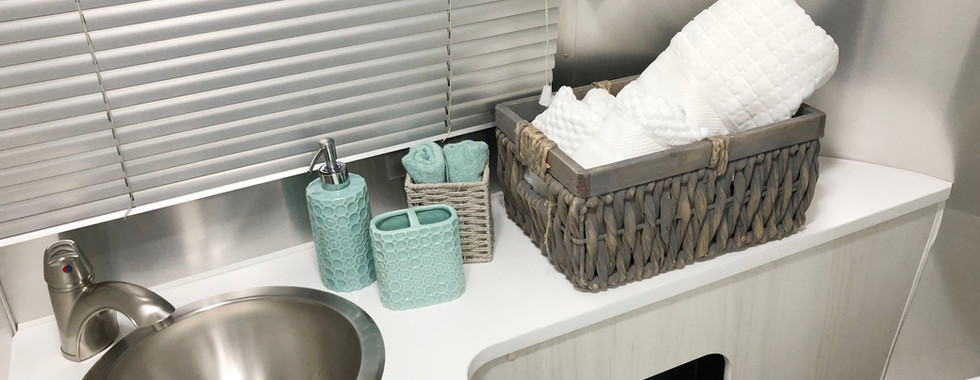 Bathroom with plush towels