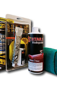 5 STAR SHINE ULTIMATE PROTECTION PACKAGE: WASH, STEP ONE & TWO, CLAY KIT