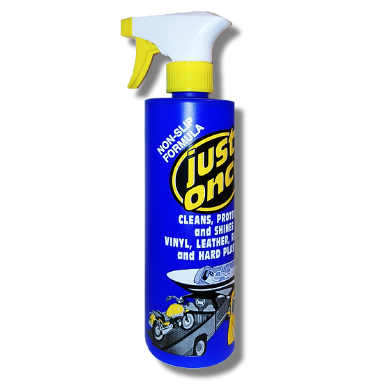 JUST ONCE AUTOMOTIVE CLEANER, RESTORER AND PROTECTANT - 16 OZ.