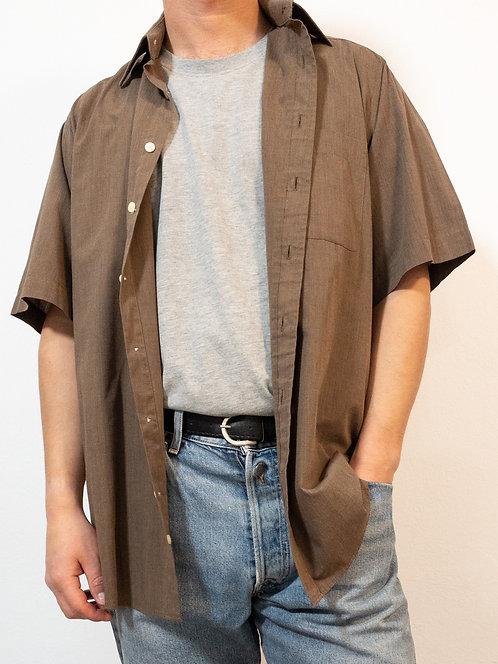 Kurzarm Hemd - braun