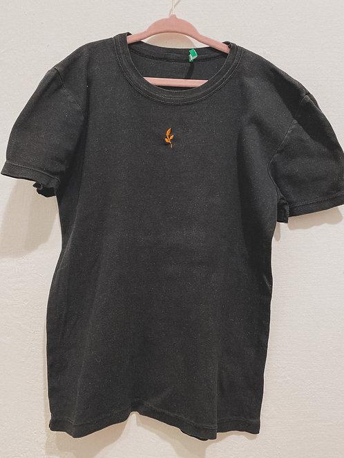 Vintage Shirt mit Blatt - Größe 128