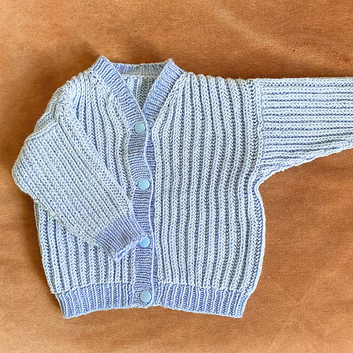 Handmade Knit Cardigan- Größe 56