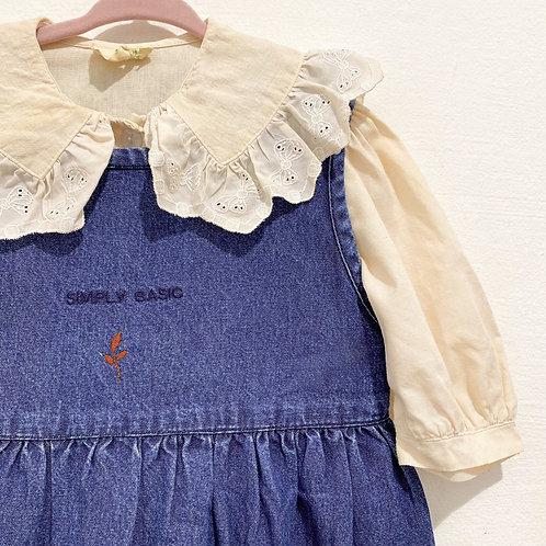 Jeanskleid mit Stickerei • Größe 116