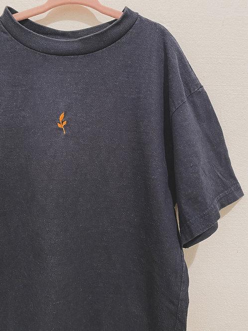 Vintage Shirt mit Blatt - Größe 134/140