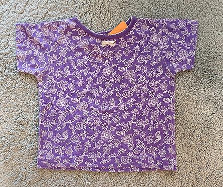 Lila Flower Shirt - Gr. 80/86