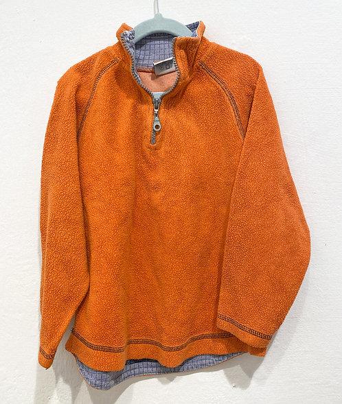 Frottee Half Zip Sweater - Gr. 110
