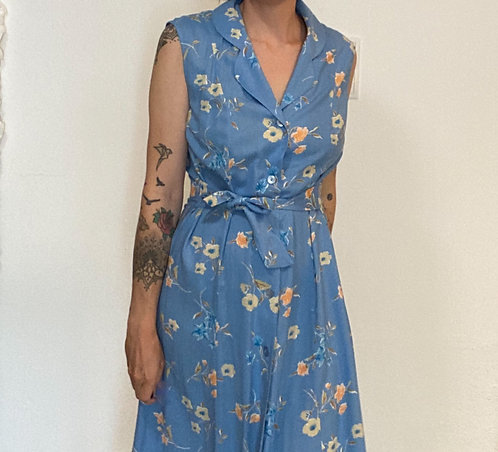 Langes Blümchen Sommerkleid