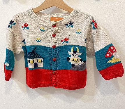 Handmade Wollcardigan• Größe 80/86