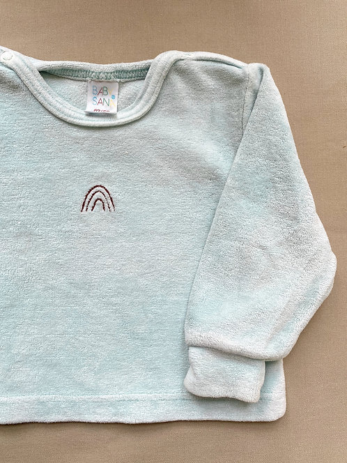 Frottee Sweater mit Regenbogen • Größe 62/68