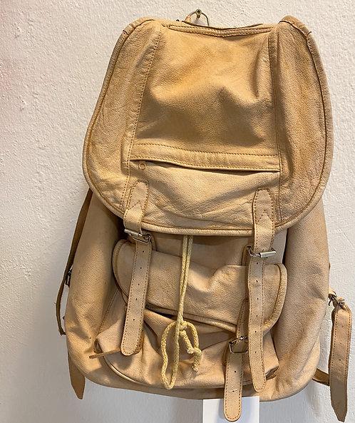 Lederrucksack beige