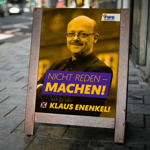Wahlkampfkonzept und grafische Umsetzung Klaus Enenkel