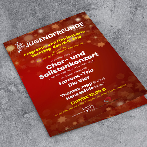 Neues Konzertprogramm Jugendfreunde Herborn