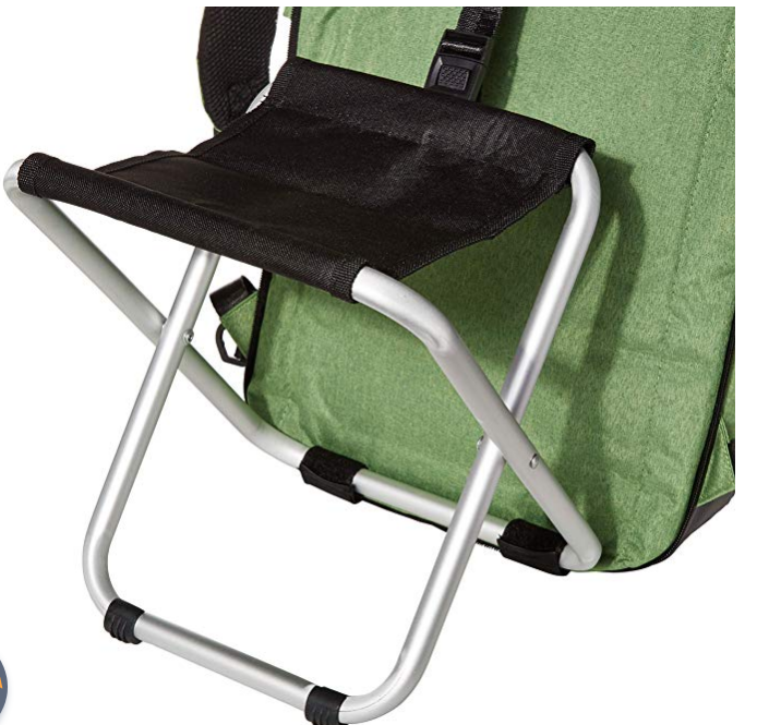 """Easy Remove chair <3 seconds  A perfect companion for Travel 1. Ultra Light 2.0 pound 2. Easily removable 300 g aluminum chair 3.Designer USB and Headphone jack included 4.Handsfree Umbrella Holder for hook the umbrella and walk handsfree multitasking. 5.Ultimate design and high quality material for durability.  6.Many Hidden compartment's and Pocket's with Keyfab and other utility pockets. 7.PU Stand for firm grip. Will not fall like other backpack's 8.Patent Pending and Patented Backpack's Designed in 2009 9.Available in Amazon """"type sitandcarry"""" 10.Water Repellant  11. One Year warranty on material 12.24/7 customer support via chat 13.Sturdy handle"""
