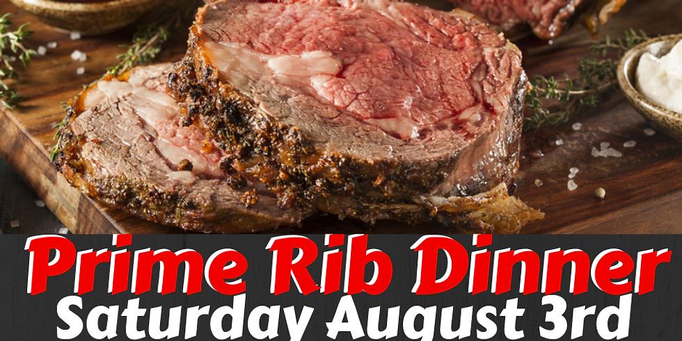 August Prime Rib Dinner