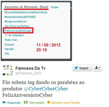 Cyber - TTs BRASIL - 2012 Aniversario