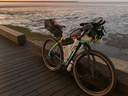 Erinn Klein: packed to the hilt for the grueling Race to the Rock.