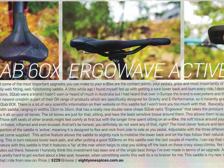 [R]evolution Magazine reviews the SQlab 6OX Ergowave Active Saddle for e-bike and gravity