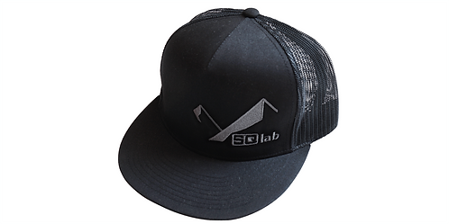 Black Classic Trucker Cap Snapback One-Size with gray SQlab and OX-Stitching