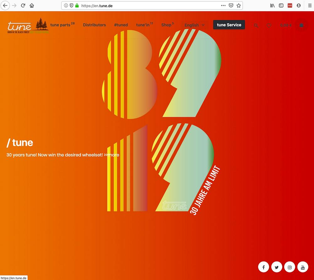 New TUNE website