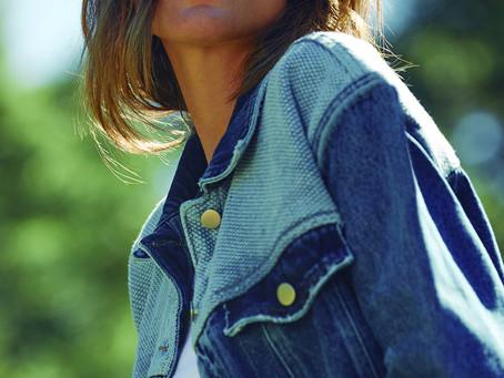 Coleção de jeans em projeto de moda responsável