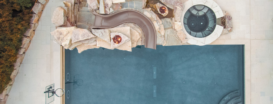 Swimming Pool, Spa & Slide