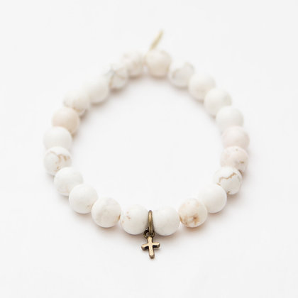 White Turquoise with Brass