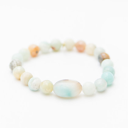 Amazonite with an Oval Amazonite Center Stone