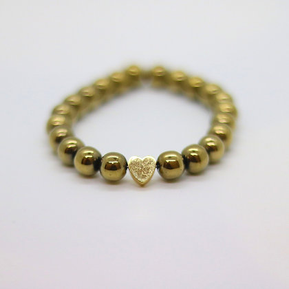 Gold Hematite with Gold Heart