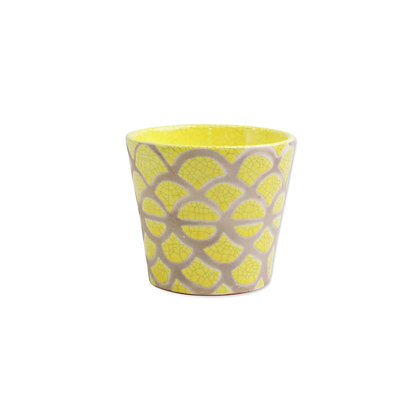 Garden Geo Yellow Small Cachepot