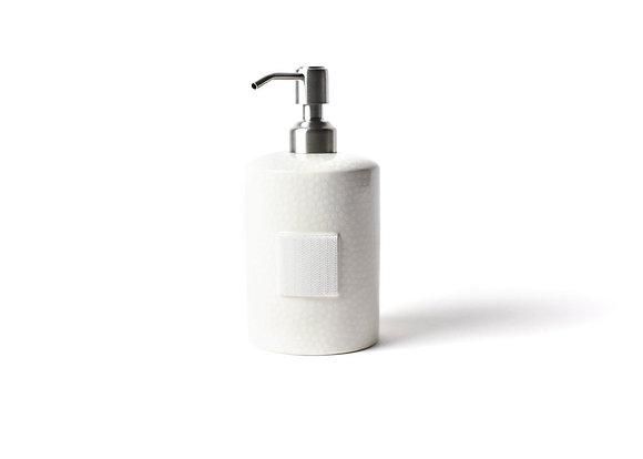 White Small Dot Mini Cylinder Soap Pump