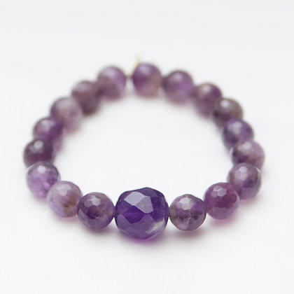 Faceted Amethyst with an Amethyst Center