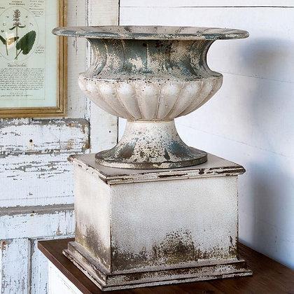 Metal Urn & Pedestal