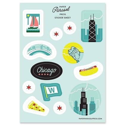 Chicago Sticker Sheet