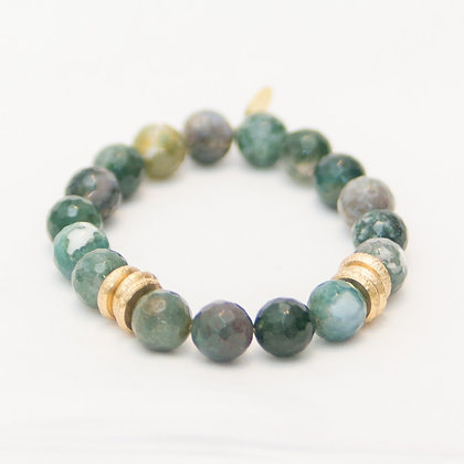 Fancy Jasper with Brushed Gold Rings