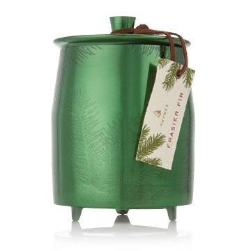 Frasier Fir Green Tin Candle