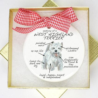 West Highland Terrier Ornament