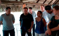 Stephan Suhner en el centro e Ivan Glasenberg a la    izquierda durante el viaje a Colombia en marzo