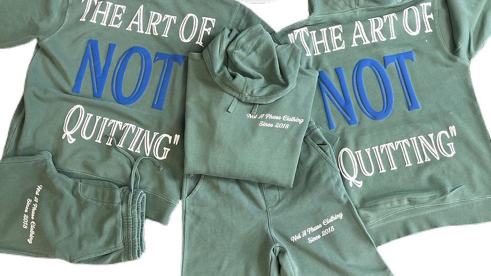 Art Of Not Quitting Hoody Short Set