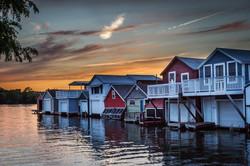 Joann Long Twilight Boathouse