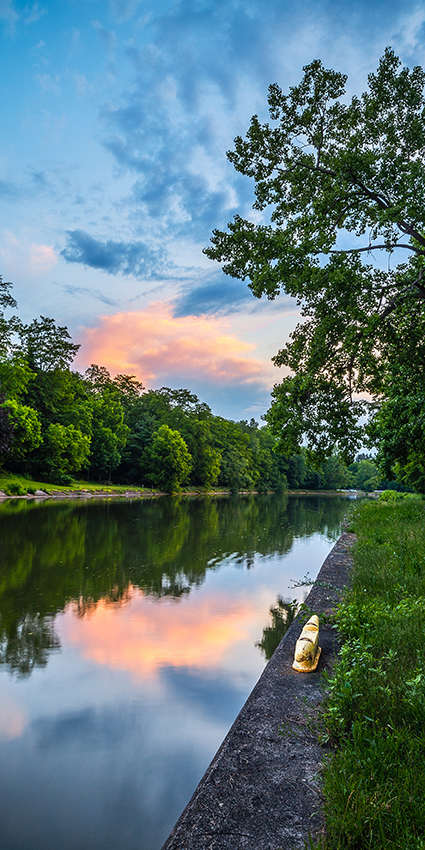 Carl Crumley - Erie Canal Sunset