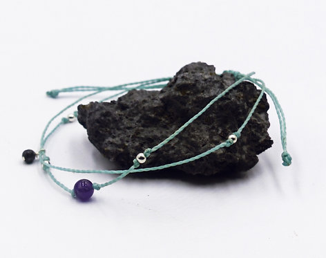 The Amethyst Anklet with 925 Sterling Silver