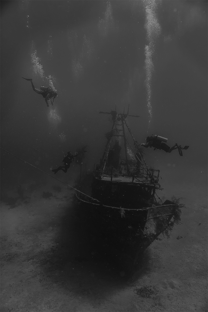 Underwater Shipwreck; Larry Mathewson