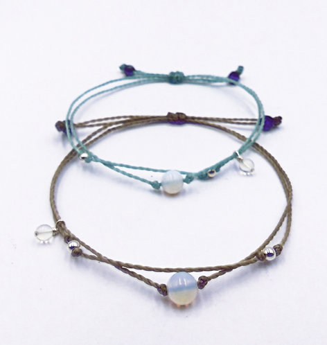 The Moonstone Bracelet with 925 Sterling Silver