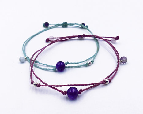 The Amethyst Bracelet with 925 Sterling Silver