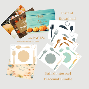 khadine litim - autumn bundle placemats-