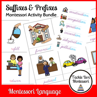 suffixes & prefixes - word study in curs