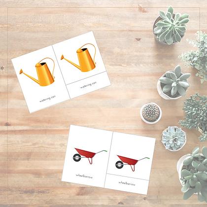 Gardening Tools 3-Part Cards - Montessori - Homeschooling - 3-Part Cards